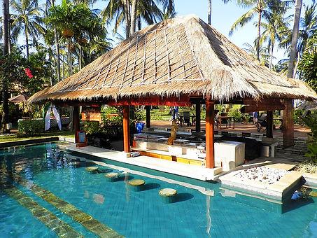 Lombok Indonesia resort pool bar