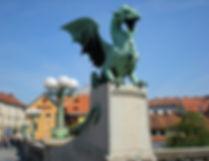 ljubljana, slovenia, dragon bridge