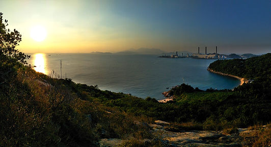 lamma island, hong kong, hiking, hike, mountains, scenery, view, nature, sea, water, sunset