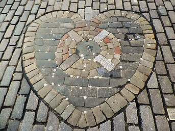 Heart of Midlothian, royal mile, Edinburgh, Scotland