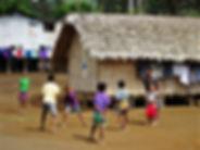 kokoda trail, track, papua new guinea, hike, trek, jungle, mountain, menari, children, village