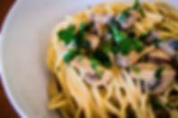 spaghetti, mushroom, pasta