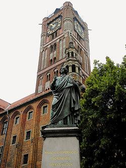 Copernicus, town hall, torun, poland