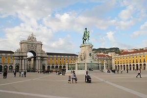 comercio square, lisbon, portugal