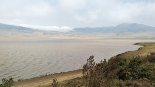 View driving through Ngorongoro Conservation Area