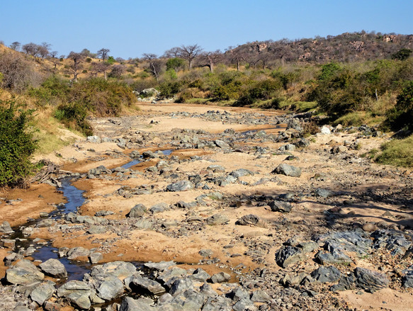 Empty riverbed