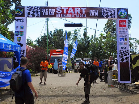 Mt Rinjani ultra start race