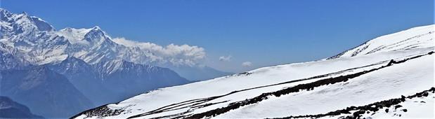 The snow around Dhaulagiri Icefall
