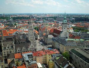 munich, germany, view, church