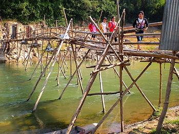 luang prabang, laos, river, bridge
