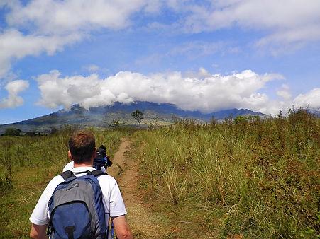 Mt Rinjani volcano Lombok Indonesia