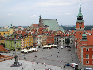 View from St Anne's church, warsaw, poland