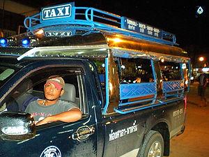 taxi songthaew thailand