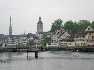 zurich, switzerland, river, bridge