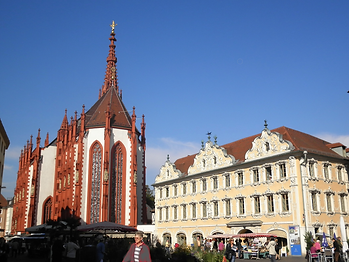 Markt, wurzburg, germany, church