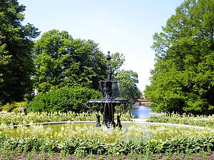 malmo, sweden, kungsparken, fountain