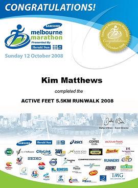 melbourne marathon certificate