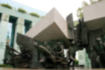 warsaw uprising monument, warsaw, poland