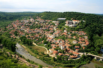 tsarevets fortress, veliko tarnovo, bulgaria, view