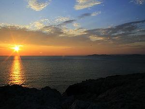 marseille, france, sunset, sea