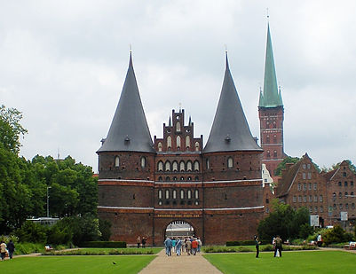 lubeck, germany, front gate