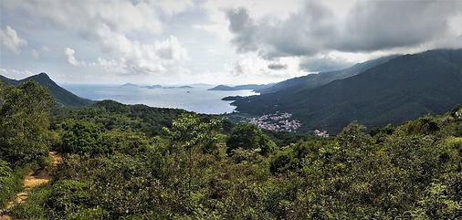 lantau island, lantau trail, hiking, mountains, view, sea, hong kong