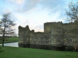 beaumaris castle, snowdonia, wales