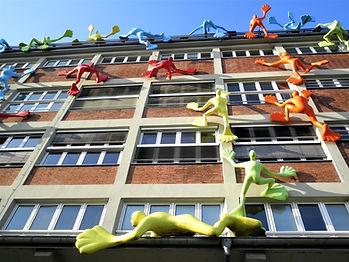Medienhafen, Düsseldorf, germany, architecture