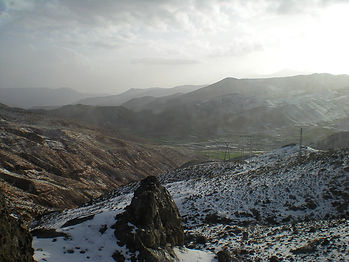 morocco, snow, atlas mountains