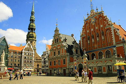 centre square, riga, latvia