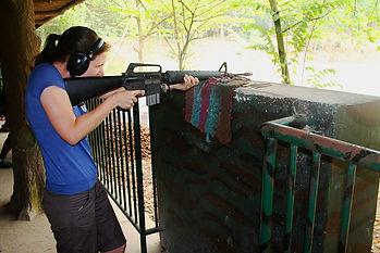 Shooting range, cu chi tunnels, ho chi minh city, vietnam