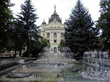 Musical fountain and state theatre, kosice, slovakia
