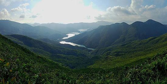 wilson trail, hong kong, hiking, view, mountains, reservoir