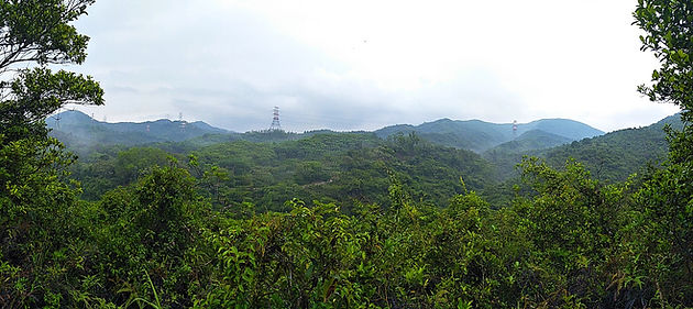 hong kong, trail, mountain, hiking, view, yuen tsuen ancient trail, panorama
