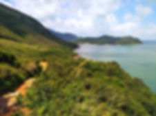 hong kong, trail, mountain, hiking, view, lantau, tung o ancient walk, water, coast, sea