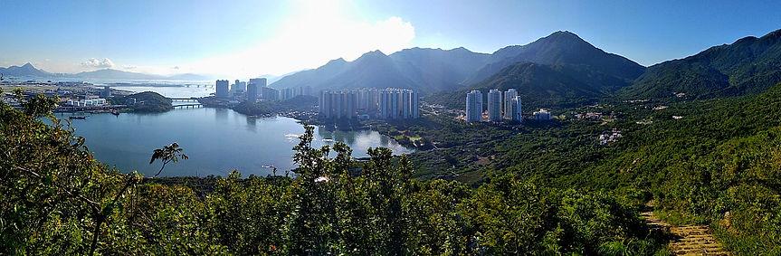 hong kong, hiking, trail, mountain, view, scenery, lantau, tung chung