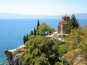 Church of Sveti Jovan at Kaneo, ohrid, macedonia