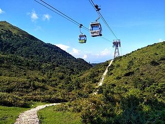 hong kong, hiking, trail, mountain, view, scenery, lantau, cable car, ngong ping 360