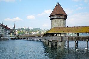 lucerne, switzerland, river, bridge