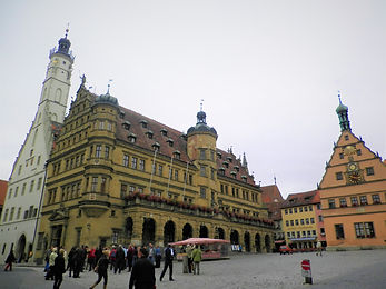 Markt, square, rothenburg, gothic, germany, medieval