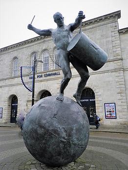 Truro, statue, cornwall, england