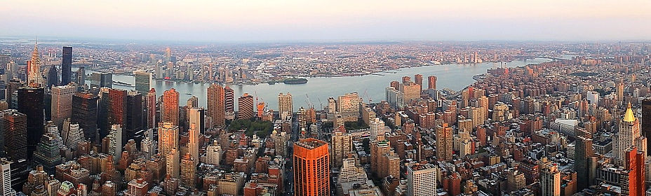 empire state building, view, new york city