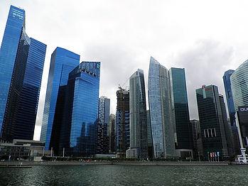Singapore, city, buildings, river
