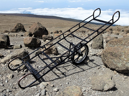 The stretcher used to carry Danny