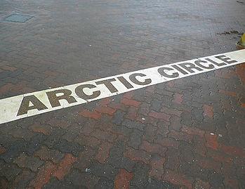 Arctic circle, Santa Claus Village, rovaniemi, finland