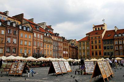 warsaw, poland, market square