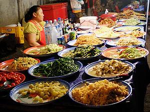 night market, food, luang prabang, laos