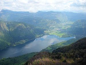 mt vogel, bohinj, slovenia, snow, lake, view