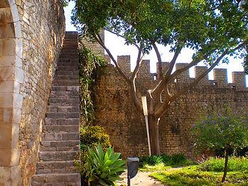 tavira, portugal, city walls