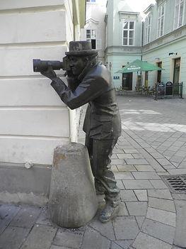 Photographer statue, Brastislava, slovakia